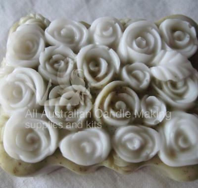 Roses, 12 on the top Silicon Soap Mould