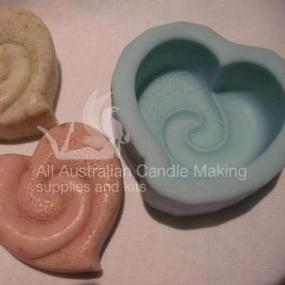 Heart swirl with texture Silicon Soap Mould
