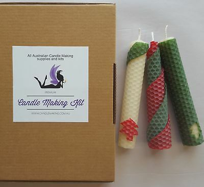 Beeswax Candle Making Kit - 3 colours for Christmas