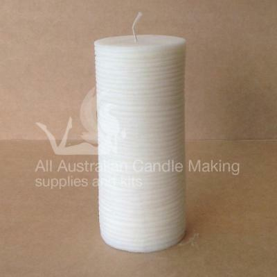 Pillar with string lines Silicon Candle Mould
