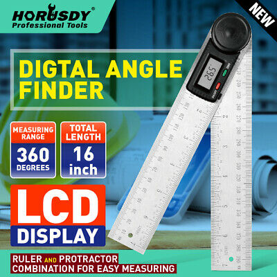 "8"" Electronic Digital Protractor Goniometer Angle Finder Miter Gauge 2 batteries"