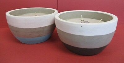 Citronella Candles with Triple Wick in Ceramic Pots for the Garden (CA183004)