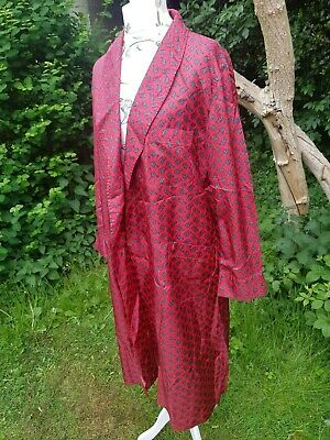 Reduced Genuine Vintage St Michael Mens Red Dressing Gown Medium
