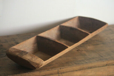 Antique Wooded Turkish Dough Riser - Old - Timber Bread Condiment Tray