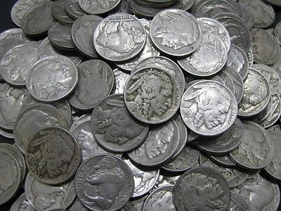 Old Buffalo Nickel Coin Lot Full Date United States 20 Coins