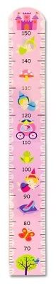 Princess Height Growth Chart Wooden Girls Bedroom Pink Nursery 150cm Wall