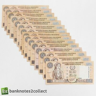 CYPRUS: 15 x 1 Cypriot Pound Banknotes.