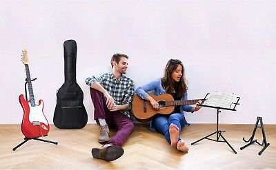 Universal Guitar Stands, Guitar bag and music note stand