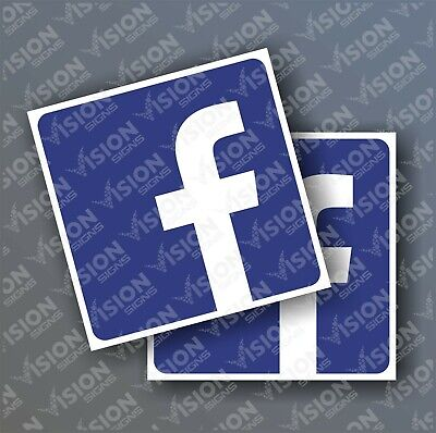 2x Facebook Twitter Instagram sticker shop window van car sticker decal