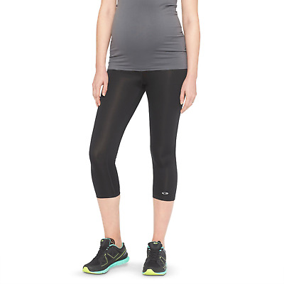 C9 Champion® Womens Maternity Under the Belly Capri Leggings - Black L