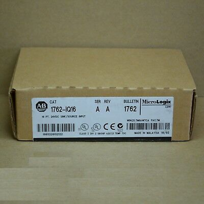 New Ab Allen Bradley 16 Pt Sink/source Input 1762-Iq16 Nib