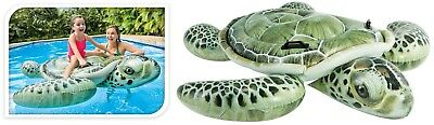 Intex Giant Inflatable Turtle Ride On Beach Toy Swimming Pool Float Aid Lilo