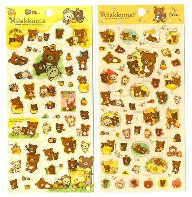 San-x Rilakkuma Honey Forest Seal Stickers Sticker Sheet LOT Kawaii Japan