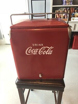 Coca Cola Picnic Cooler 1950s Rare Vintage Retro Antique
