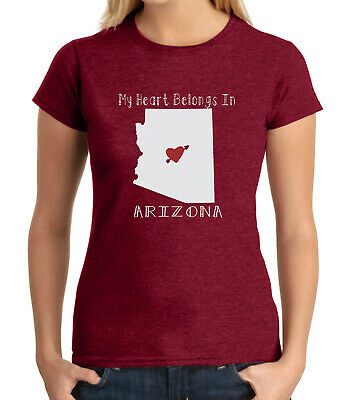 My Heart Belongs AZ JUNIOR'S T-shirt Proud Arizona Compatriot GIRL'S Tee - 1693C
