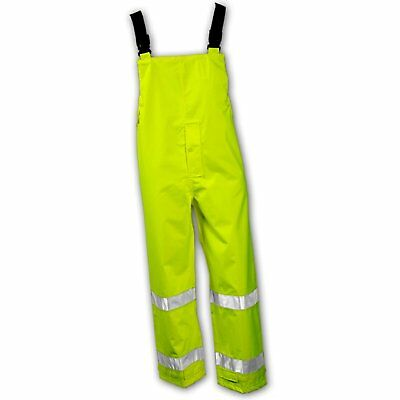 Tingley Icon 024122 High Visibility Class 3 Waterproof BIB Overalls Lime Green S