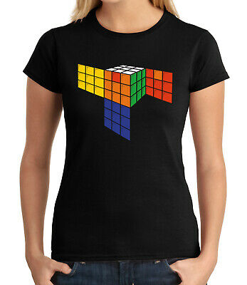 Cubics Cube Abstract Cubik Kid/'s T-shirt 3D Cubic Puzzle Tee for Youth 1849C