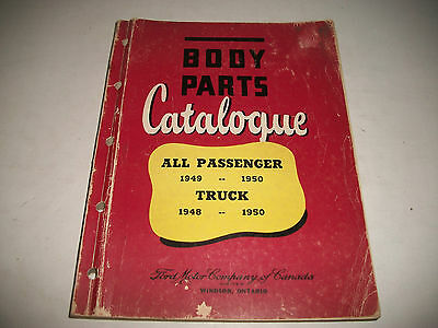 1948-1950 Ford Meteor Mercury Monarch Cars & Trucks Body Parts Catalog Rare