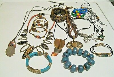 Vintage Misc Lot Of Artisan Jewelry Some Signed