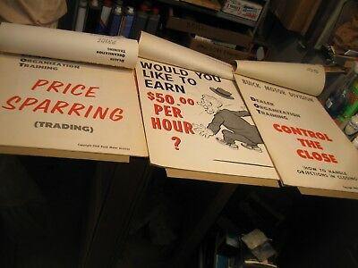"1960 Buick Sales Training Flip Charts ""price Sparring,earn $50 Hr, Control"" Nos"