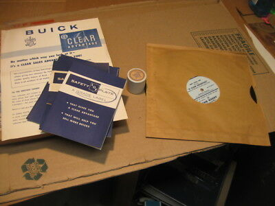 "1958 Buick Sales Training Filmstrip& Record ""clear Advantage"" Nos"