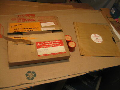 "1956 Buick Sales Training Filmstrip& Record ""bright Eyed"" Nos"