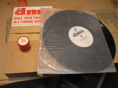 "1960 Buick Sales Training Filmstrip& Record "" Take A Turn In Turbine Drive"" Nos"