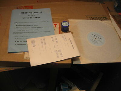 "1961 Buick Sales Training Filmstrip & Record "" When To Trade"" Nos"