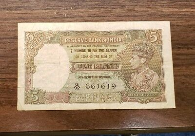 India PK# 18a ND 5 Ruppes Banknote