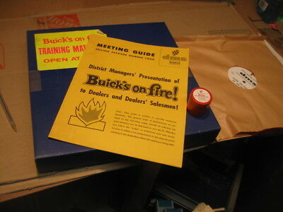 "1960 Buick Sales Training Filmstrip& Record "" Buicks On Fire"" Nos"