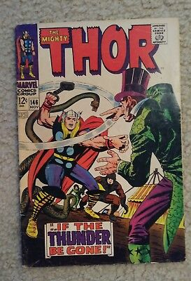 """Marvel Comics The Mighty THOR #146 (1967) """"Thunder be Gone"""" ~ Inhumans!"""