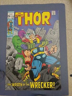 The Mighty Thor #171 (1969 Marvel Comics) Wrecker appearance Silver AgeFN/VF