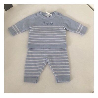 Dusky Pink And Guipure Lace Two Piece Knitted Set By Blues Babywear zip zap