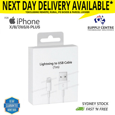 Certified USB Lightning Cable Cord Data For Apple Charger iPhone iPad 5 6 7 8