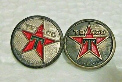 Pair Of Vintage Texaco Uniform Buttons