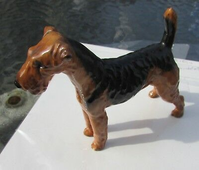 Royal Doulton Airedale Terrier Dog Figurine Standing Bone China England Vintage
