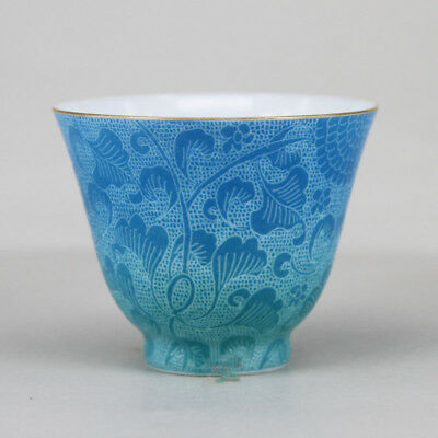 Chinese Jingdezhen Porcelain color Handmade Tea Cup 45cc Color gradient