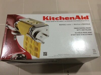 New  KitchenAid Ravioli Maker Attachment For Stand Mixer KRAV Made in Italy