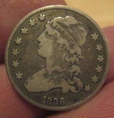 1836 Capped Bust Silver Quarter Nice Condition No Reserve