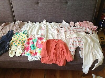 Baby Girls Clothes Bundle SEED, Purebaby, Country Road, Bebe sizes 0000-00