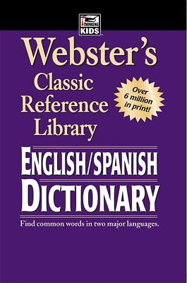 Webster English Spanish Dictionary Translator Paperback Word Travel Edition Book
