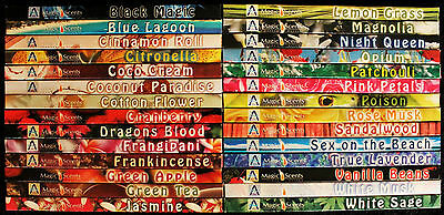 40 - 80 Sticks Incense CHOOSE Scent or MIXED BULK Dragons Blood Floral Insence