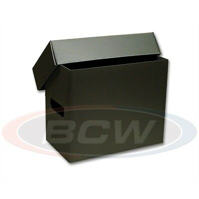 1 BCW Short Black Plastic Comic Book Storage Box New Strong Hold 150+ Store Safe