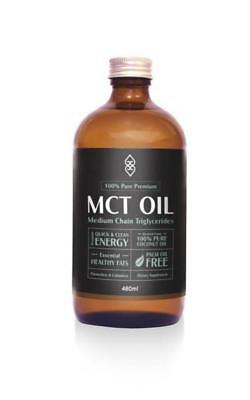 480ml Pure MCT Oil with C:8 and C:10 Coconut Magic Vegan GMO Gluten Soy Nut Free