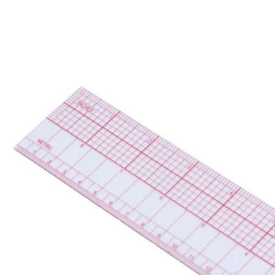Transparent+Red Multi-function Plastic Grading Ruler forTailor Sewing Craft Tool