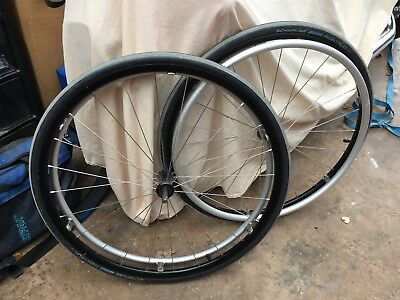 "24"" Wheelchair Wheels with tyres and pushrims"