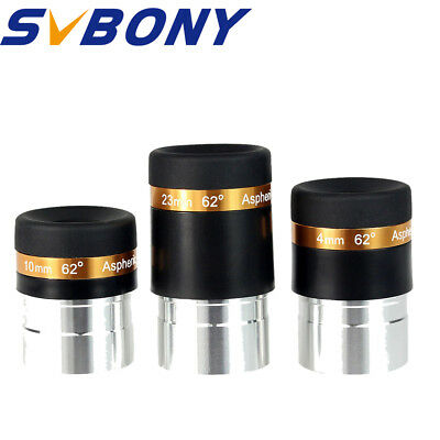 """SVBONY 1.25""""4/10/23mm Eyepiece Lens Fully Coated Wide Angle for Telescope Newest"""