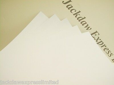 Quality Smooth Thick White Craft Card A4 300gsm x 35 Shts Wedding Invites AM438