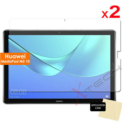"""2 Pack of CLEAR Screen Protector Covers for Huawei MediaPad M5 10 10.8"""" Tablet"""