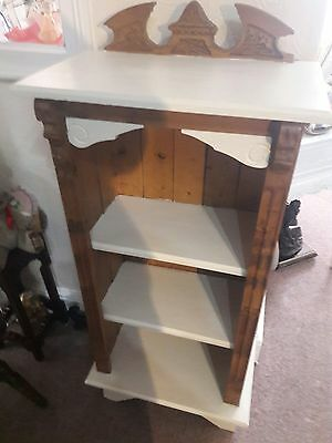 Pine and cream Solid wood detailed bookcase compact display Cd dvd shelves unit